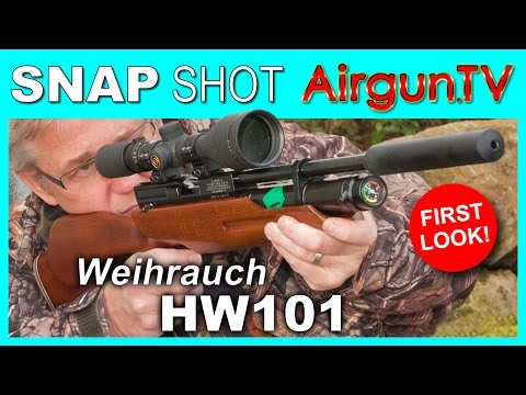 FIRST LOOK - WEIHRAUCH HW101 KT single-shot PCP air rifle