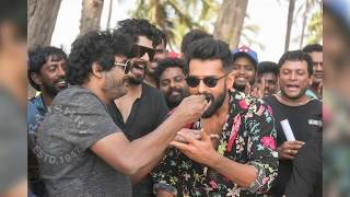 Hero Ram Birthday Celebrations With Ismart Shankar Team - RAJSHRITELUGU