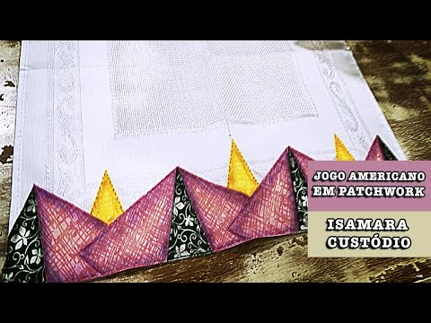 14/10/2014 - Jogo americano em patchwork (Isamara Custódio)
