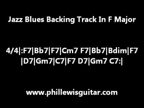 Jazz Blues Backing Track In F Major