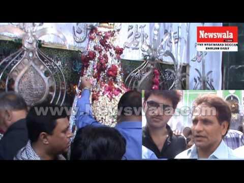 Shahbaz Ahmed khan and Singi Reddy Srinivas Reddy visited Bibi Ka Alawa for Muharram 2013