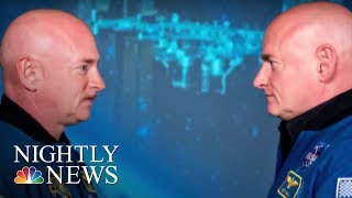 Astronaut's DNA different than his twin's after year in space | NBC Nightly News - NBCNEWS
