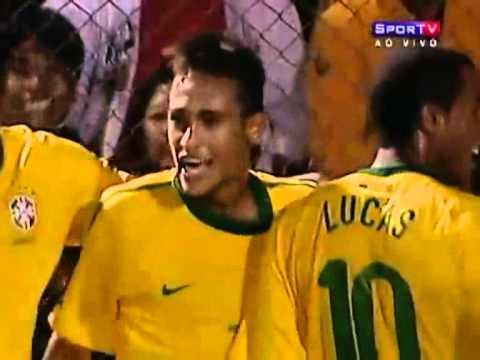 Show de Neymar! Brasil 4 x 2 Paraguai - Gols - Sul-Americano Sub-20 [18/01/11]