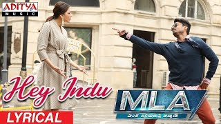 Hey Indu Lyrical || MLA Movie Songs || Nandamuri Kalyanram, Kajal Aggarwal || Mani Sharma - ADITYAMUSIC