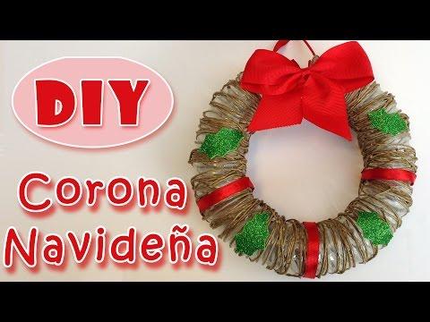 Manualidades de Navidad .Corona de navidad de cuerda.Christmas Wreath