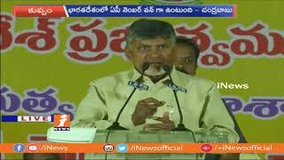 CM Chandrababu Naidu Speech at Janmabhoomi Public Meeting in Kuppam | Chittoor | iNews - INEWS