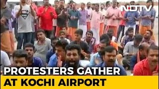 Trupti Desai, Heading To Sabarimala, Blocked By Protests At Kochi Airport - NDTV