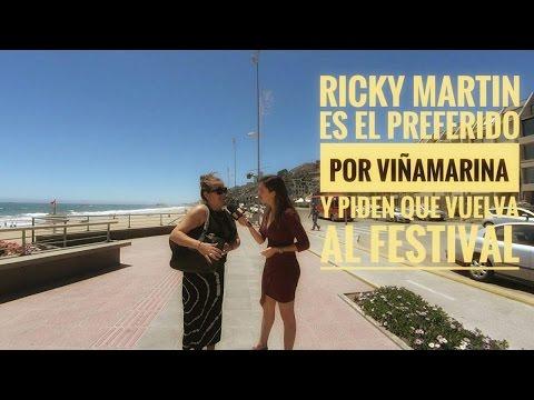 Ricky Martin es el preferido por Viñamarina y piden que vuelva al Festival