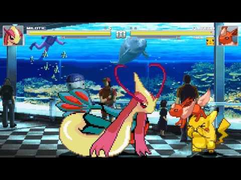 Mugen Vore - (Merufimu)Milotic vs Flareon and Pikachu + Download Link!