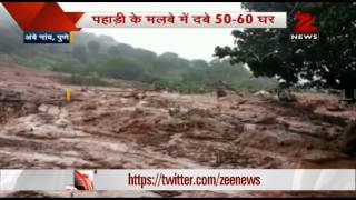 Massive landslide buries Pune's Malin village, over 100 people trapped - ZEENEWS