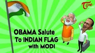 OBAMA Salute to Indian Flag with MODI | Happy Republic Day - TELUGUONE