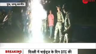 Jawans along LoC in J&K's Poonch write 'Happy Diwali' from diyas - ZEENEWS