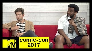 Adam Scott and Craig Robinson Discuss New Show 'Ghosted' | Comic-Con 2017 | MTV - MTV