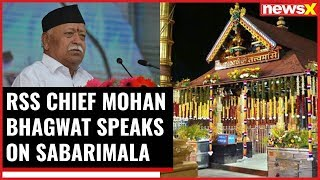 RSS Chief Mohan Bhagwat on Sabarimala, says on name of equality there's imbalance - NEWSXLIVE