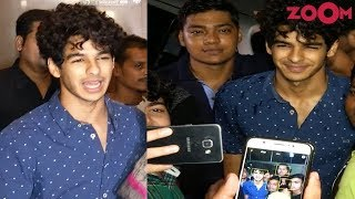 Ishaan Khatter Says NO PICTURES To The Paparazzi | 'Dhadak' Special Screening UNCUT - ZOOMDEKHO
