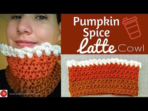 Pumpkin Spice Latte Cowl   Crochet Jasmine Stitch   Holidays 2016 DIY Gift Idea