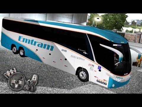 Euro Truck Simulator 2 - Viação Emtram - Ônibus G7 1200 MB O500 RSD - Com Logitech G27