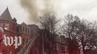 Fire in Logan Circle rowhouse injures three people - WASHINGTONPOST