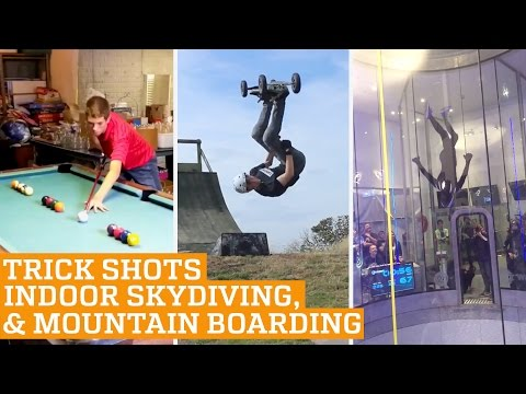 Top Three: Indoor Skydiving, Mountain Boarding & Snooker Trick Shots | PEOPLE ARE AWESOME
