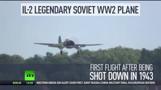 'Flying tank': IL-2 legendary WW2 plane resurrected from lake takes flight at MAKS 2017 Air Show - RUSSIATODAY