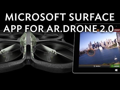 Parrot AR.Drone 2.0 controlled by Microsoft Surface