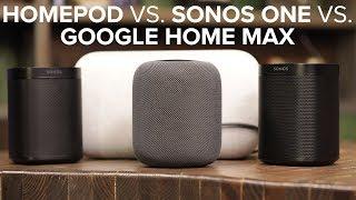 Apple HomePod vs stereo Sonos One vs Google Home Max - CNETTV