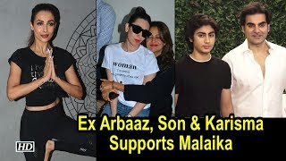 Ex Arbaaz, Son & Friend Karisma Supports Malaika at Fitness Studio Launch - BOLLYWOODCOUNTRY