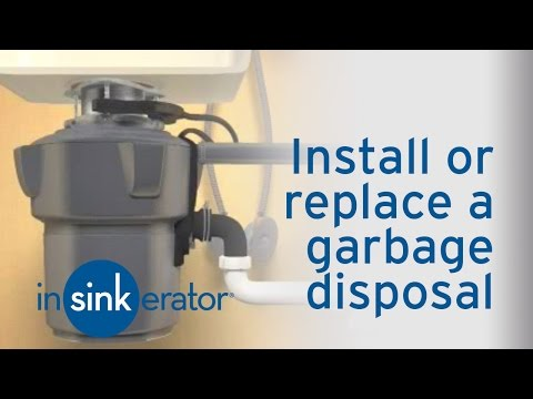 How do I install or replace a garbage disposal?