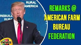 US President Donald Trump Gives Remarks at the American Farm Bureau Federation's Annual Convention - MANGONEWS