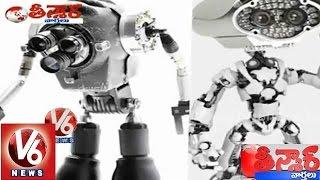 CM KCR innovative idea to clear drain flow by using CC Cameras with Robots - Teenmaar News - V6NEWSTELUGU