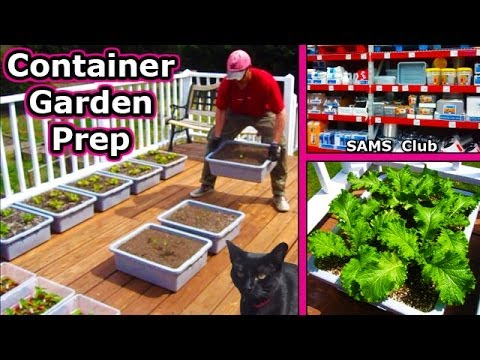Container Garden Prep - Soil Planting Square Foot Gardening Patio