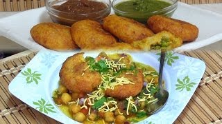 Chole Tikki Chaat Recipe Video by Bhavna - Indian Street Food/Snacks Collaboration - SUPERVEGGIEDELIGHT