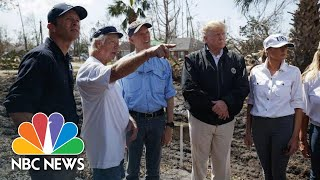 Scenes From President Donald Trump's Post-Hurricane Michael Visit To Florida And Georgia | NBC News - NBCNEWS