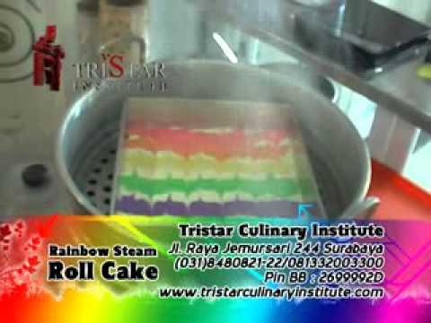 Membuat Rainbow Roll Cake Diajarkan Resep Ekonomis Timbangan Tepat