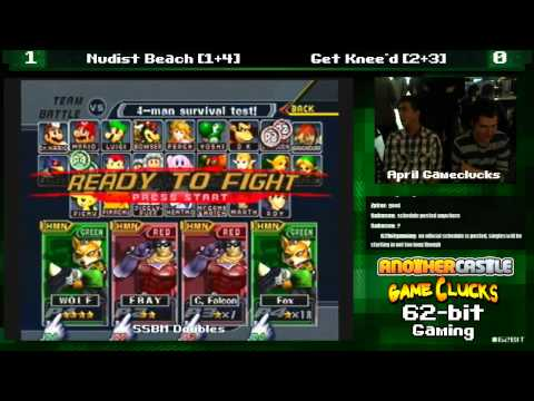 SSBM 2v2 Nudist Beach vs Get Knee'd April Gameclucks