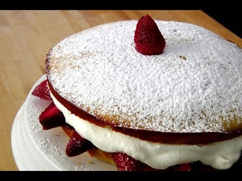 How to make a Strawberry Cake by Laura Vitale Laura in the Kitchen Ep. 103