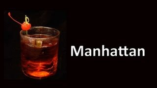 Manhattan Cocktail Drink Recipe