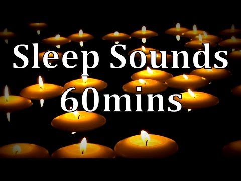 """Floating Candles with Rain Sounds"" 60mins  Get to Sleep Fast!"