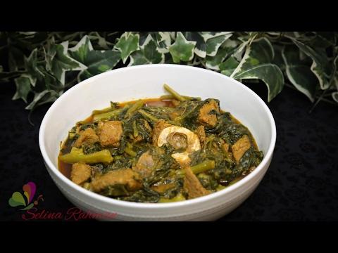 পুঁই শাক দিয়ে মাংস রান্না || Red Meat with Pui Shak || Beef With Vegetables || R# 122