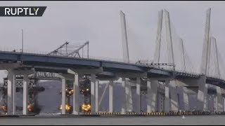New York's Tappan Zee Bridge BLOWN UP to make way for the new - RUSSIATODAY
