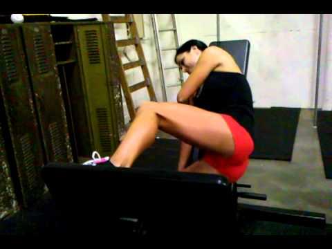 Single leg glute press- Vote for Vitrix model Stephanie Mahoe