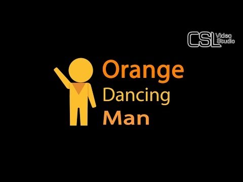 Orange Dancing Man