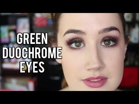 Green Duochrome Eye | Tutorial feat. Makeup Geek Insomnia