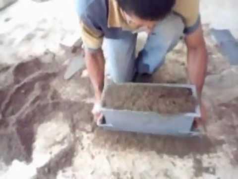 Forma manual de fazer canaleta de 15 de cimento
