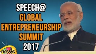 PM Modi Excellent Speech at Global Entrepreneurship Summit 2017 | #GES2017 | Mango News - MANGONEWS