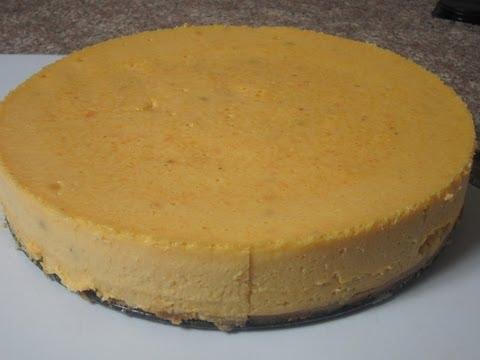 Pastel de Queso con Calabaza - Butternut Squash Cheesecake.