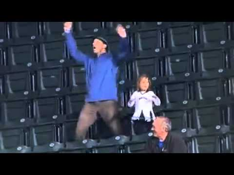 Dad Dancing At Stadium