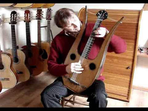 Bruunari no. 250, antique French Lyre Guitar, video 2