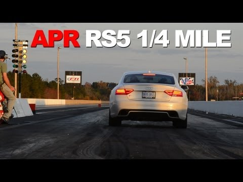 APR RS5 Stage I ECU Upgrade VS Stock at the Drag Strip