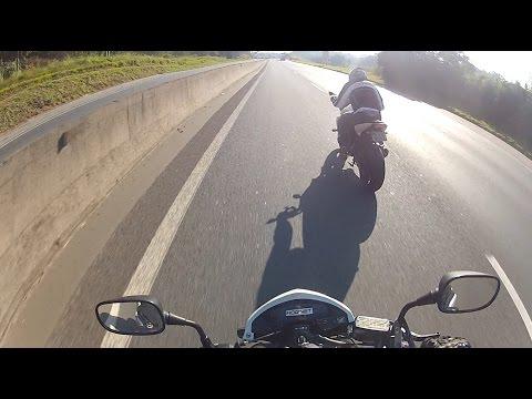 FABINHO DA HORNET - VIDEO ANTES DO ACIDENTE - PAU NA Z750 E EM BUSCA DO TIOZÃO KLE621 - FERNÃO DIAS